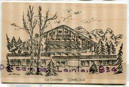 - COMBLOUX - ( Hte-Savoie ), La Colombe, Carte En Bois, épaisse, Rare, écrite, TTBE, Scans.  . - France