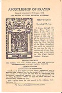 Apostleship Of PrayerGeneral Intention For February, 1949 The Fight Against Modern Atheism - Devotion Images
