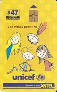 Nº 88 TARJETA DE URUGUAY DE  UNICEF DE 47$   (CHIP G5 ROJO) - Uruguay