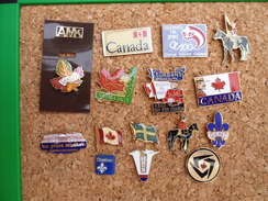 Lot De 15 Pin's  Sur Le Canada - Cities
