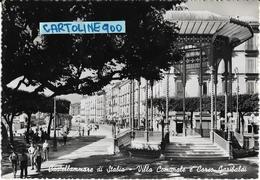 Campania-castellammare Di Stabia Veduta Villa Comunale E Corso Garibaldi Animata Anni 50 - Castellammare Di Stabia