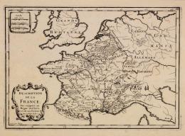 Description De La France Par Rapport Au Règne De Clovis Et Ses Enfants, 27X37 - Autres Collections