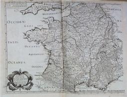 Très Rare : Carte De Gaule Antique (GALLIAE ANTIQUAE), 52X72 Cm De 1642 - Andere Verzamelingen