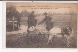 Militaria 60 Conchy Les Pots Bouc Trouve A Beuvraignes Et Dresse Pat Les Ambulanciers Rhum Blesses 1ere Ligne Goat Cart - France