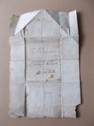 LETTRE DE 1671 POUR VERTEUIL CHARENTE ANDRE BERNARD LAR??? - Marcophilie (Lettres)