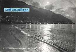 Campania-castellammare Di Stabia Bella Veduta Panoramica Notturna Anni 50 - Castellammare Di Stabia
