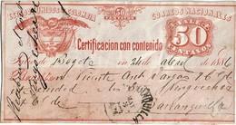 """CTN49/1AM - COLOMBIE """"CERTIFICACION CON CONTENIDO """" UTILISE - Colombia"""