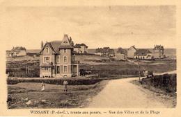Cpa 62 Wissant Pas De Calais Vue Des Villas Et De La Plage - Wissant