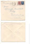 6849 1930 IMPERIALE £1,25+ FLOREALE 75C MISTA LETTERA 2 PORTI X GERMANIA - Marcofilía