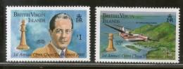 British Virgin Islands 1988 Open Chess Championships Pwan Sc 605-6 MNH # 2805 - Schaken