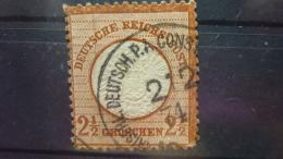 Brustschild  Mi Nr  21 Kolonie Stempel Konsulat - Deutschland