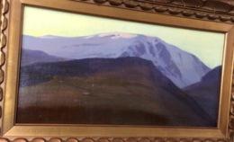 RIESENGEBIRGE 1905 Gemälde Kuron Herbert (1888 Breslau-Berlin) [Ölbild Schlesien Polen Tschechien Poland Berge Painting - Oils