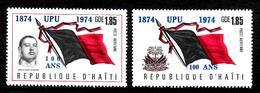 HAITI  PA 541/42  * *   SURCHARGE UPU  Poste Drapeaux - U.P.U.