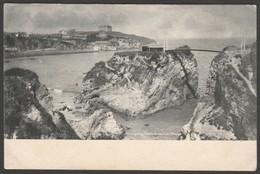 Town Beach & Island, Newquay, Cornwall, C.1904 - Frith's Postcard - Newquay
