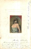 ILLUSTRATEUR FEMME PARTIELLEMENT DENUDEE ENVOYEE DE SANTA FE EN 1907 - Illustrateurs & Photographes
