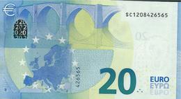 € 20  ITALIA SC S006 A4  DRAGHI  UNC - EURO