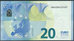 € 20  ITALIA SB S006 F5  DRAGHI  UNC - EURO
