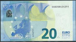 € 20  ITALIA SA S006 H6  DRAGHI  UNC - EURO