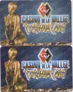 Lot De 2 Cartes Différentes : Fortune Card : Casino De La Vallée D'Aosta Saint-Vincent Italie - Casino Cards