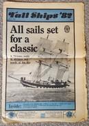 Tall Ships '82 At Falmouth, Cornwall, Newspaper, July 1982 - Viajes/Exploración