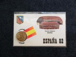 TARJETAS CALENDARIOS COLECCION   MUNDIAL  FÚTBOL `82 CON PESETA OFICIAL S/C - Spanien