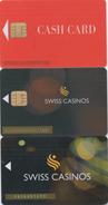 Lot De 3 Cartes Différentes : Swiss Casinos - Casino Cards