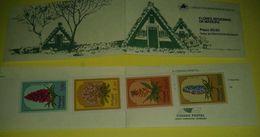 Portogallo Libretto Flores Madeira 4 Francobolli Selos Nuovo Casa Alberi - Libretti