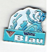Pin WICK Blau - Halsbonbons (mit Eisbär) - Markennamen