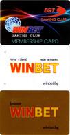 Lot De 4 Cartes Différentes Casino Bulgarie : Winbet Gaming Club : Winbet.bg - Casino Cards