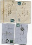 Ambulant NANTES A PARIS Sur 4 LAC Avec N°14 29 Et 60 Oblitérés NP Ou PN - Marcophilie (Lettres)