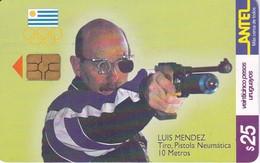 Nº 138 TARJETA  DE URUGUAY DE TIRO DE 25$   (CHIP G4 NEGRO) - Uruguay