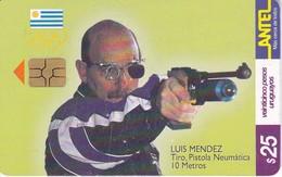Nº 138 TARJETA  DE URUGUAY DE TIRO DE 25$   (CHIP G5 ROJO) - Uruguay