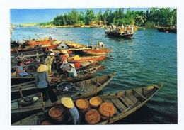 VIETNAM - A RIVERIN MARKET - PHOTO HOANG DUC THUR - 1970s ( 1619 ) - Cartes Postales