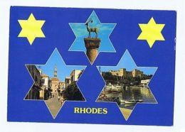 GREECE - RHODES / RODI - 3 SIGHTS - 1970s  ( 1703 ) - Cartes Postales