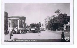 EGYPT - ALEXANDRIA - MOHAMED ALY SQUARE - RPPC POSTCARD 1940s ( 1597 ) - Cartes Postales