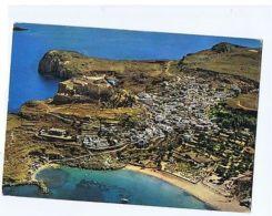 GREECE - RHODES / RODI - VIEW OF LINDOS - STAMP - 1960s  ( 1704 ) - Cartes Postales