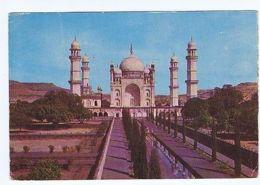INDIA - BIBI-KA-MAKBARA - AURANGABAD - STAMPS - AIR MAIL TO ITALY  ( 1639 ) - Cartes Postales