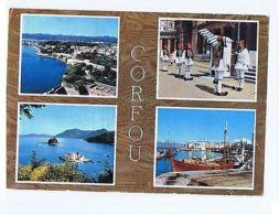 GREECE - KERKIRA / CORFU - 4 SIGHTS - STAMPS - 1962  ( 1716 ) - Cartes Postales