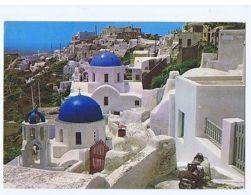 GREECE - SANTORINI - OIA - PARTIAL VIEW - STAMP - 1970s ( 1698 ) - Cartes Postales