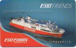 Ferry Membership Card : Fast Ferries Grèce : Fast Friends - Andere Sammlungen