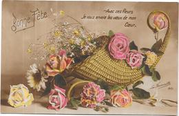 LOT De 6 CPA COLORISEE FANTAISIE - BONNE FETE - Avec Ces Fleurs.........  - ORL - - 5 - 99 Postcards