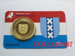 Collectors Coin - Coincard - AMSTERDAM - Pays-Bas - Elongated Coins
