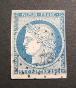 LOT R1631/494 - CERES N°4 - GC 78 ANGERS (Maine Et Loire) - Cote : 60,00 € - 1849-1850 Ceres