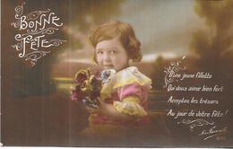 LOT De 5 CPA COLORISEES FANTAISIE - BONNE FETE - Phrases D'une Adorable Petite Fille - ORL - - 5 - 99 Postcards