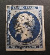 LOT R1631/516 - NAPOLEON III N°14Aa Bleu Très Foncé - PC 2686 RIVE-SUR-Gier (Loire) - 1853-1860 Napoléon III