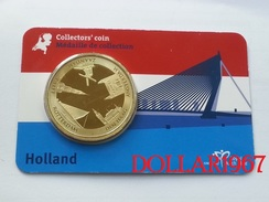 Collectors Coin - Coincard -THE NETHERLANDS – Panorama  - Pays-Bas - Elongated Coins