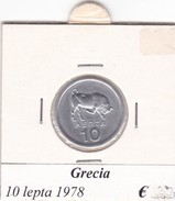 GRECIA   10 LEPTA  ANNO 1978  COME DA FOTO - Grecia