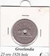 GROENLANDIA   25 ORE  ANNO 1926  HOLE  COME DA FOTO - Groenland