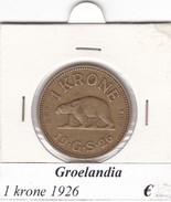 GROENLANDIA   1 KRONE  ANNO 1926  COME DA FOTO - Greenland