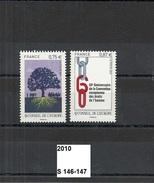 Série Service De 2010 Neuf** Y&T N° S 146 à 147 - Mint/Hinged
